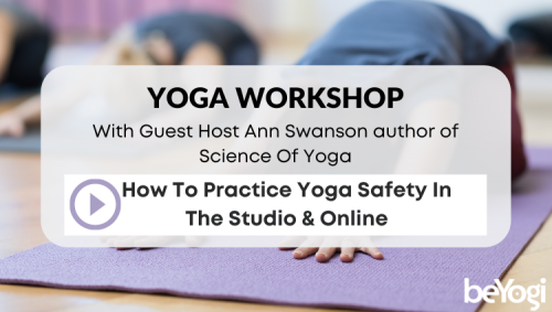 Yoga Safety In The Studio And Online